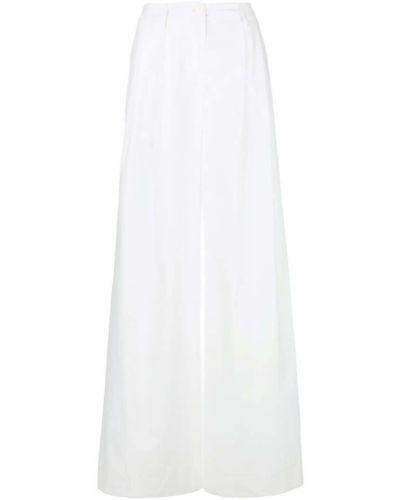 Брюки с завышенной талией расклешенные белые Blanca