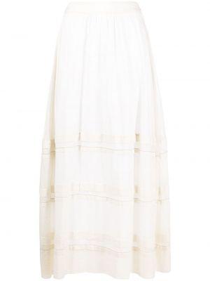 Długa spódnica bawełniana - beżowa Peserico