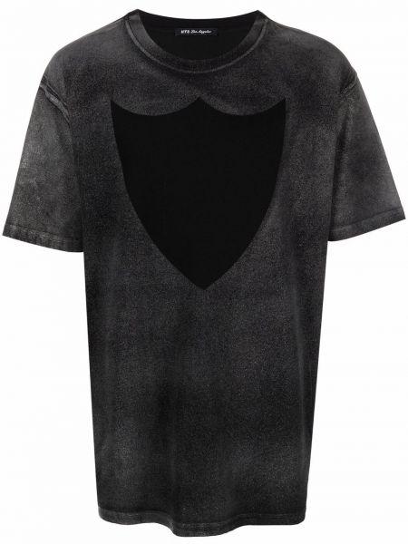 Czarny t-shirt krótki rękaw bawełniany Htc Los Angeles