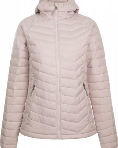 Приталенная теплая розовая куртка с капюшоном на молнии Columbia
