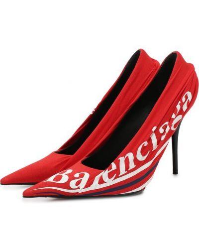 Кожаные туфли из джерси текстильные Balenciaga