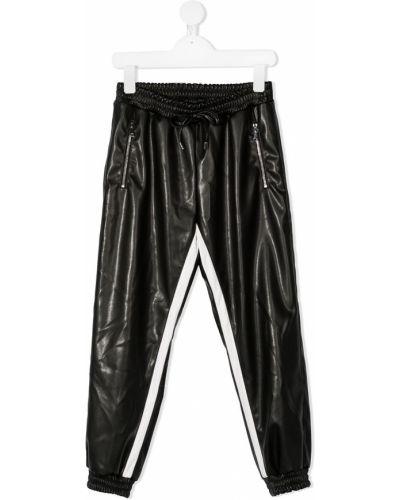 Спортивные черные спортивные брюки с карманами на молнии Ermanno Scervino Junior