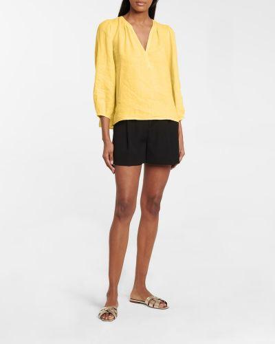 Żółta bluzka z aksamitu Velvet