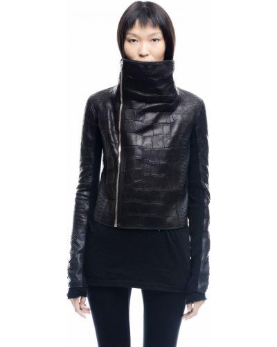 Кожаная куртка черная байкерская Hun Rick Owens