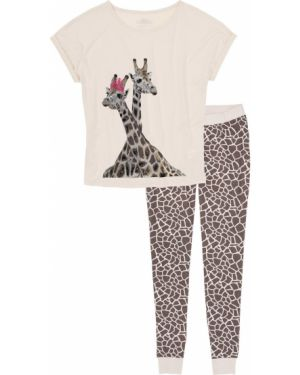 Пижама с брюками бежевая пижамный Bonprix