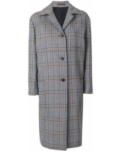 Длинное пальто в клетку свободное Paul Smith