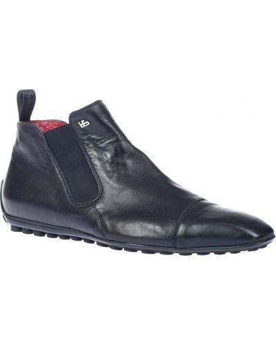 Кожаные ботинки осенние черные Roberto Botticelli