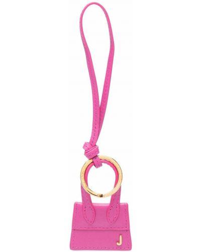 Кожаный брелок - розовый Jacquemus