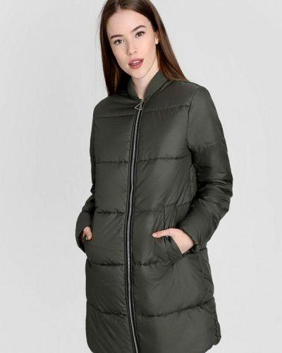 Зеленая теплая утепленная куртка O'stin