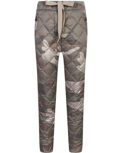 Нейлоновые утепленные брюки с перьями Naumi