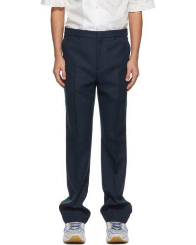 Niebieskie spodnie z paskiem Acne Studios