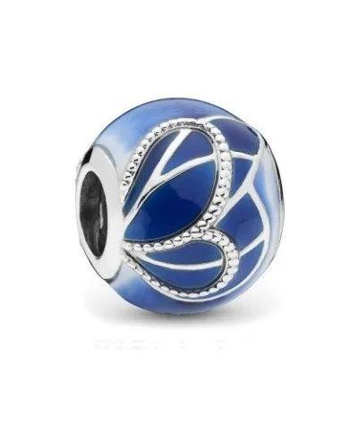 Серебряный браслет металлический с бабочками Pandora