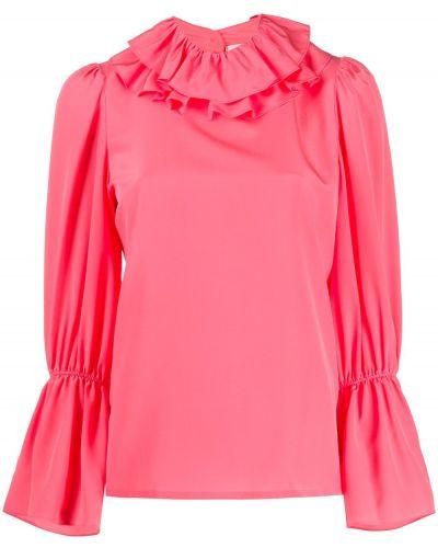 Блузка с длинным рукавом розовая в полоску Tory Burch