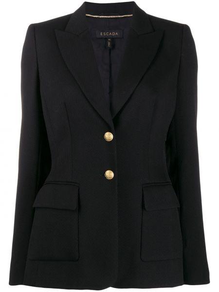 Куртка черная на пуговицах Escada
