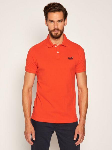 Koszulka - pomarańczowa Superdry