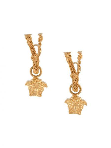 Kolczyki ze sztyftem metal złoto z klamrą Versace