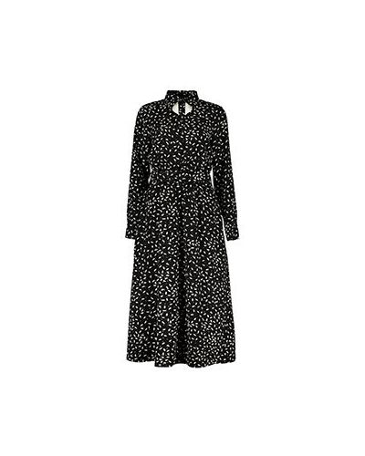 Платье из вискозы - черное Poustovit