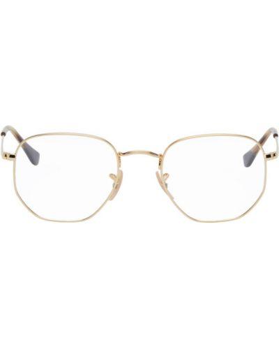 Кожаные розовые очки для зрения Ray-ban