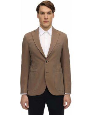 Beżowy garnitur bawełniany Sartoria Latorre