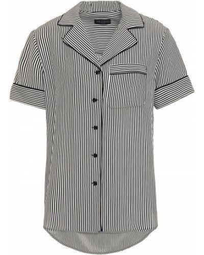 Czarna koszula w paski z jedwabiu Rag & Bone