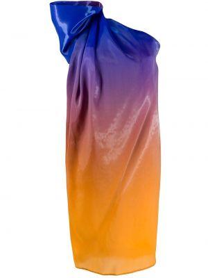 Niebieska sukienka z jedwabiu Halpern