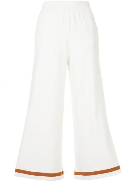 Białe spodnie z paskiem Loveless