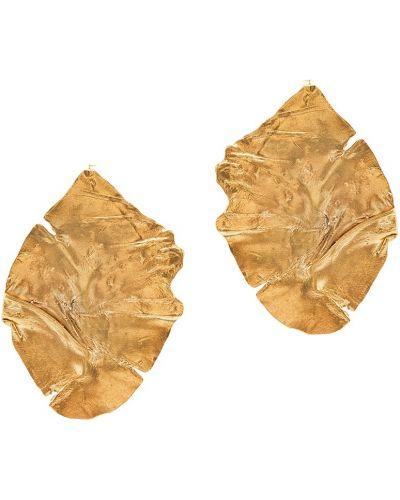 Серебряные серьги позолоченные золотые Ringstone