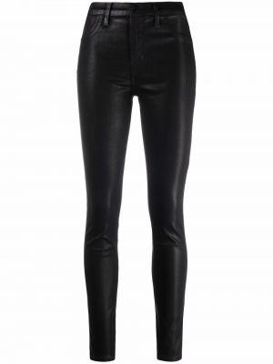 Черные джинсы-скинни с высокой посадкой на молнии J Brand