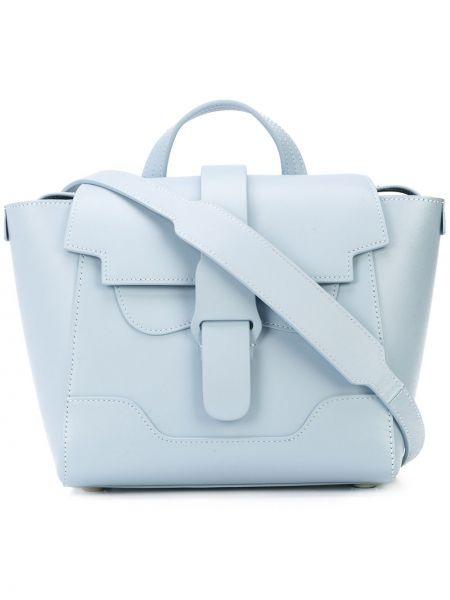 Niebieski plecak skórzany Senreve