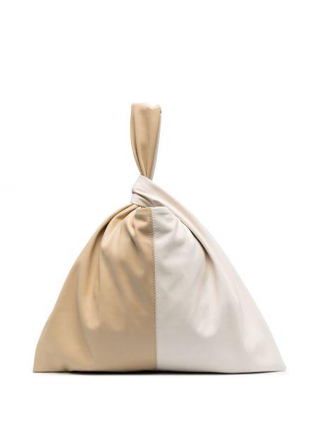 Кожаная сумка тоут с завязками Nanushka