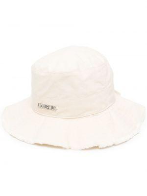 Белая панама металлическая свободного кроя Jacquemus