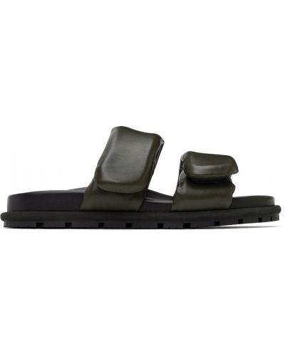 Sandały skórzane - czarne Dries Van Noten