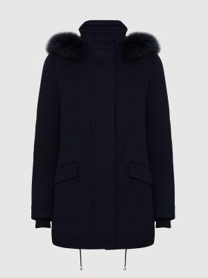 Синее шерстяное пальто Heresis