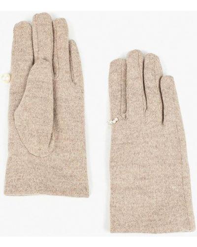 Бежевые перчатки текстильные Zarina