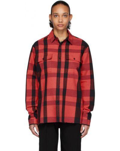 Хлопковая с рукавами черная рубашка Marcelo Burlon. County Of Milan