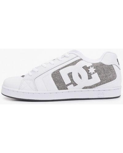 Кожаные кеды - белые Dc Shoes