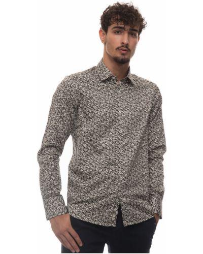 Beżowa koszula casual Canali