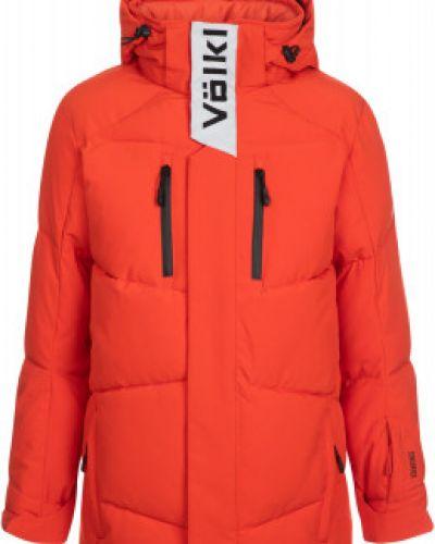 Свободная красная водонепроницаемая зимняя куртка свободного кроя VÖlkl