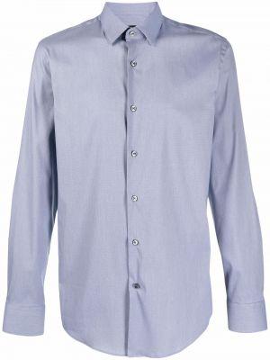 Рубашка с длинным рукавом - синяя Boss Hugo Boss
