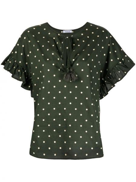 Блузка в горошек с короткими рукавами со вставками P.a.r.o.s.h.