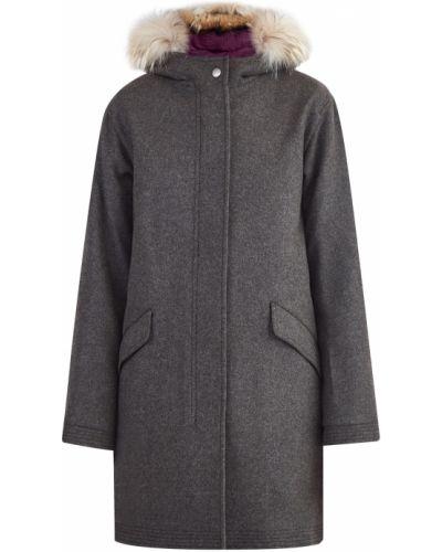 Пальто с капюшоном милитари прямое Etro