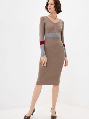 Вязаное платье - коричневое Moki