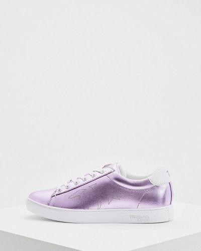 Джинсы с низкой посадкой фиолетовый Trussardi Jeans