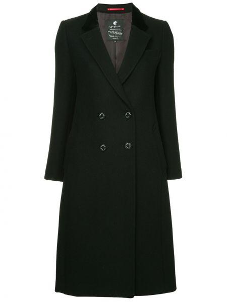 Расклешенное черное длинное пальто с капюшоном Loveless