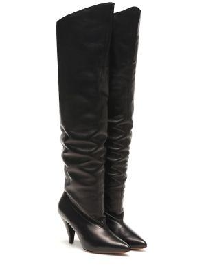 Bezpłatne cięcie skórzany czarny buty bezpłatne cięcie Givenchy