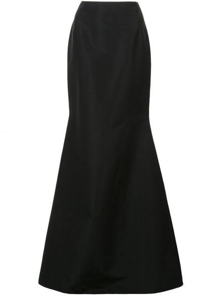 Czarna spódnica maxi rozkloszowana z wysokim stanem Carolina Herrera