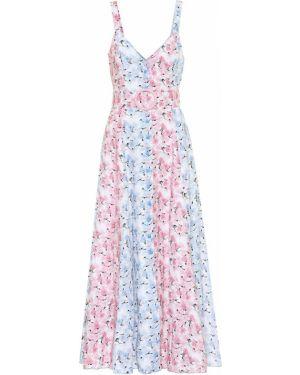 Розовое льняное платье Gül Hürgel