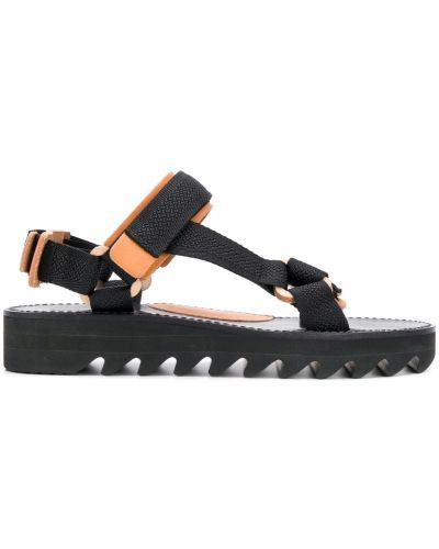 Черные кожаные сандалии Hender Scheme