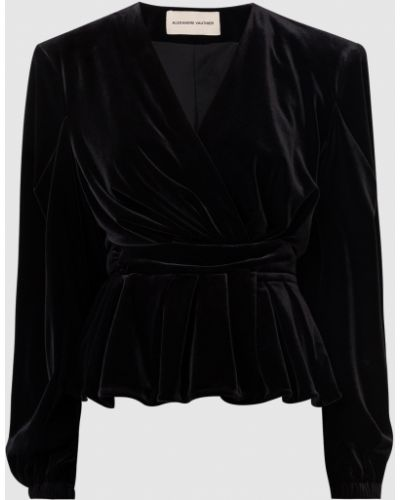 Черный велюровый пиджак Alexandre Vauthier