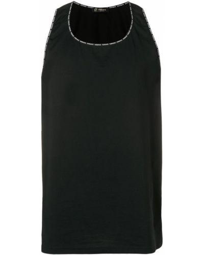 Майка черная Versace